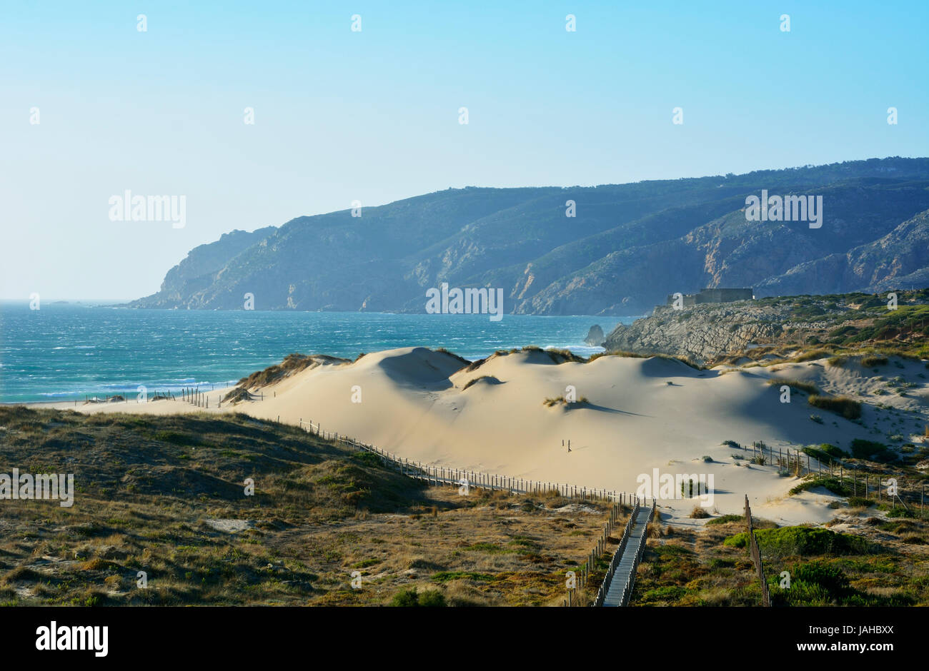The big dunes of Guincho. Cascais, Portugal Stock Photo