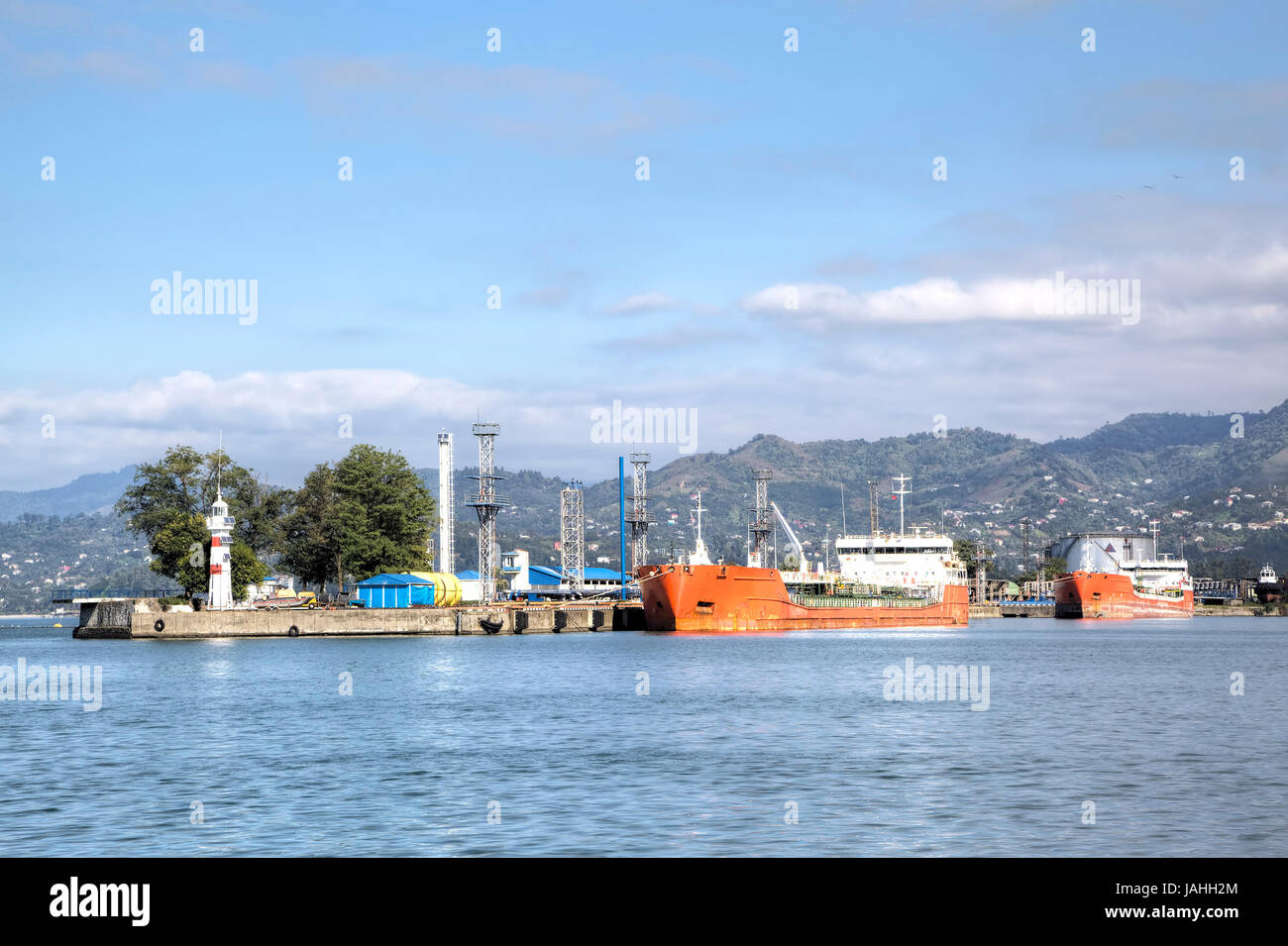 Sea port. Batumi, Georgia - Stock Image