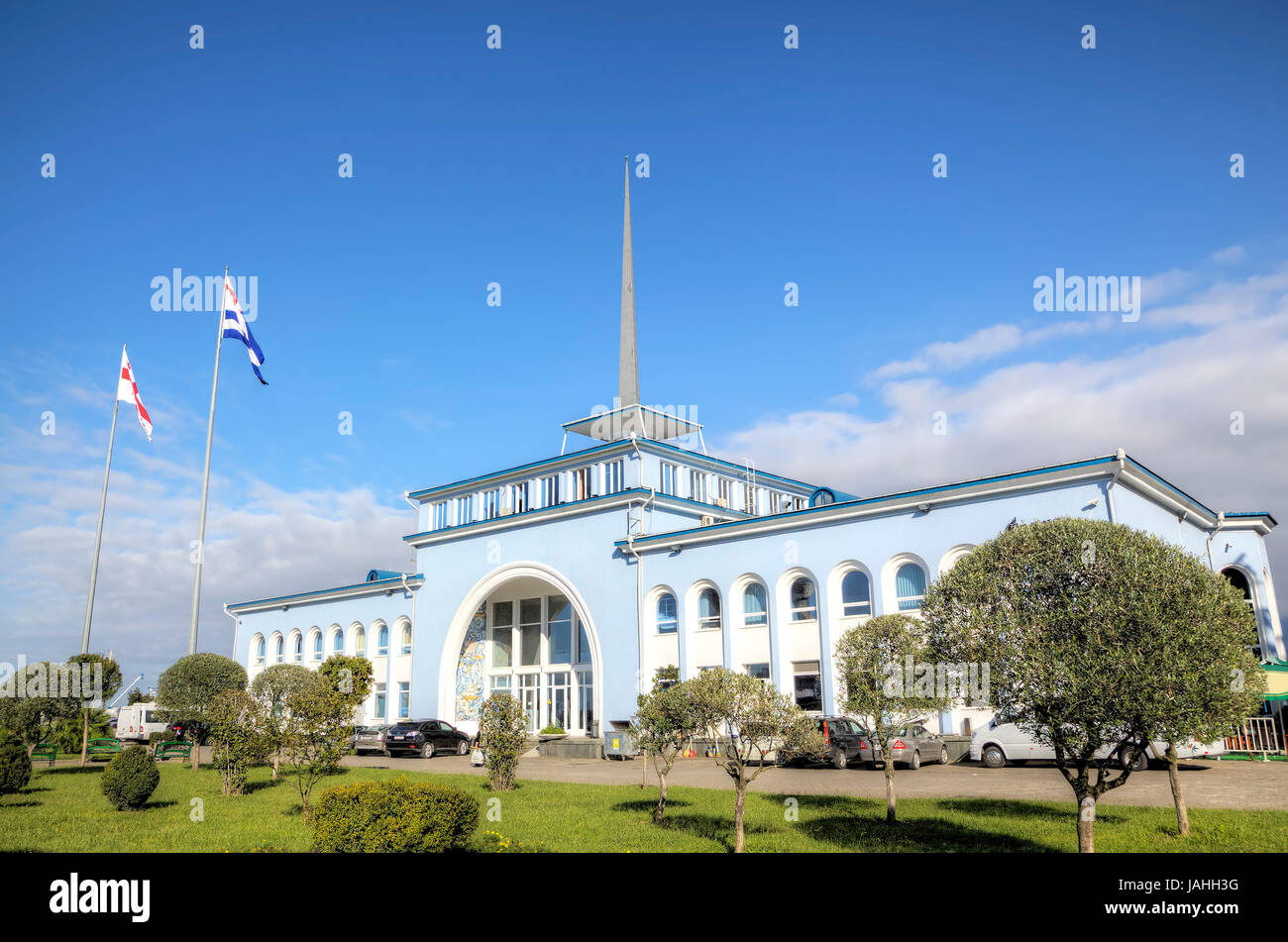 The building of the Sea Passenger Port. Batumi, Georgia - Stock Image