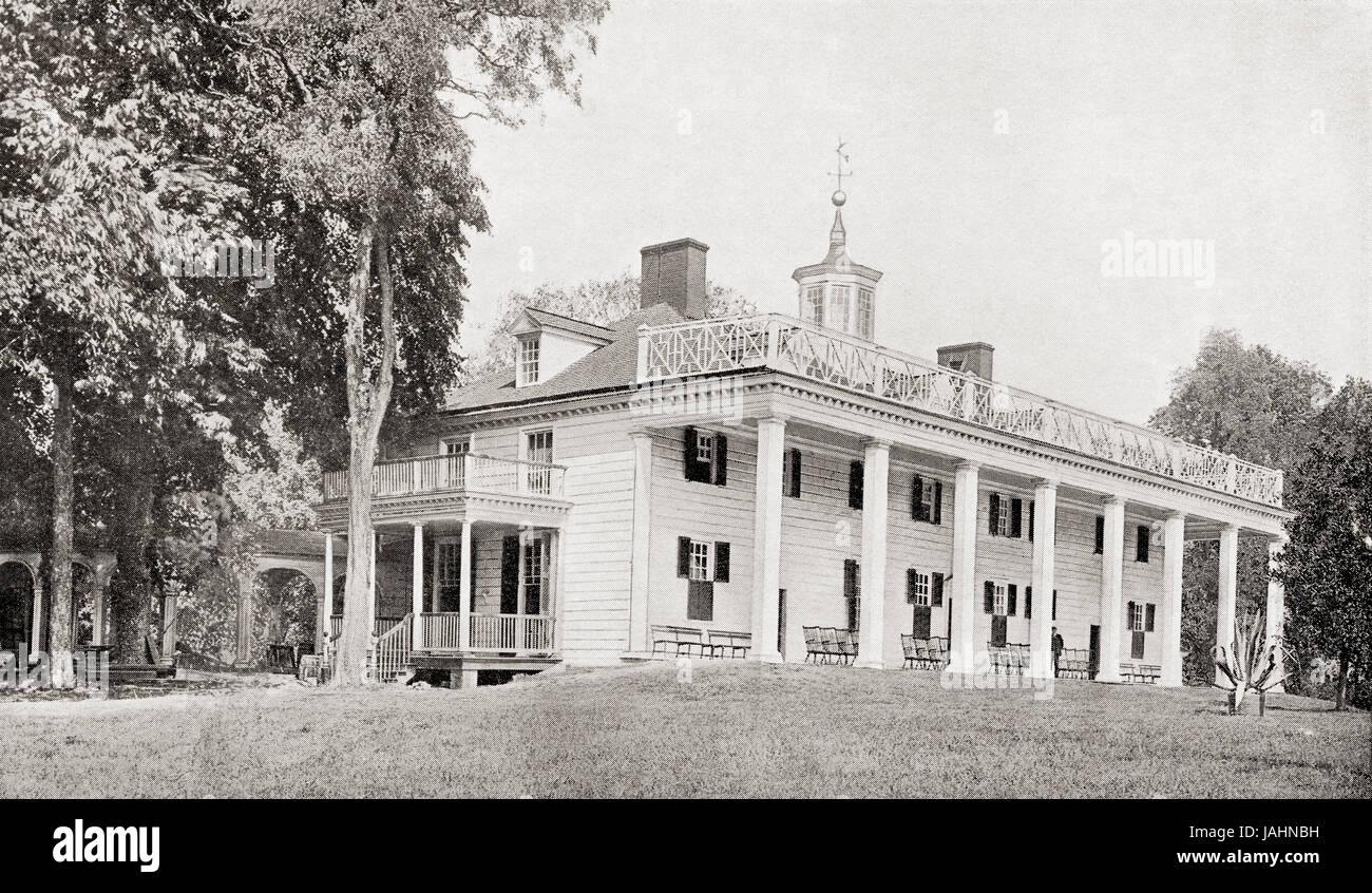 Mount Vernon, the residence of George Washington, Fairfax County, Virginia, United states of America in the 18th - Stock Image