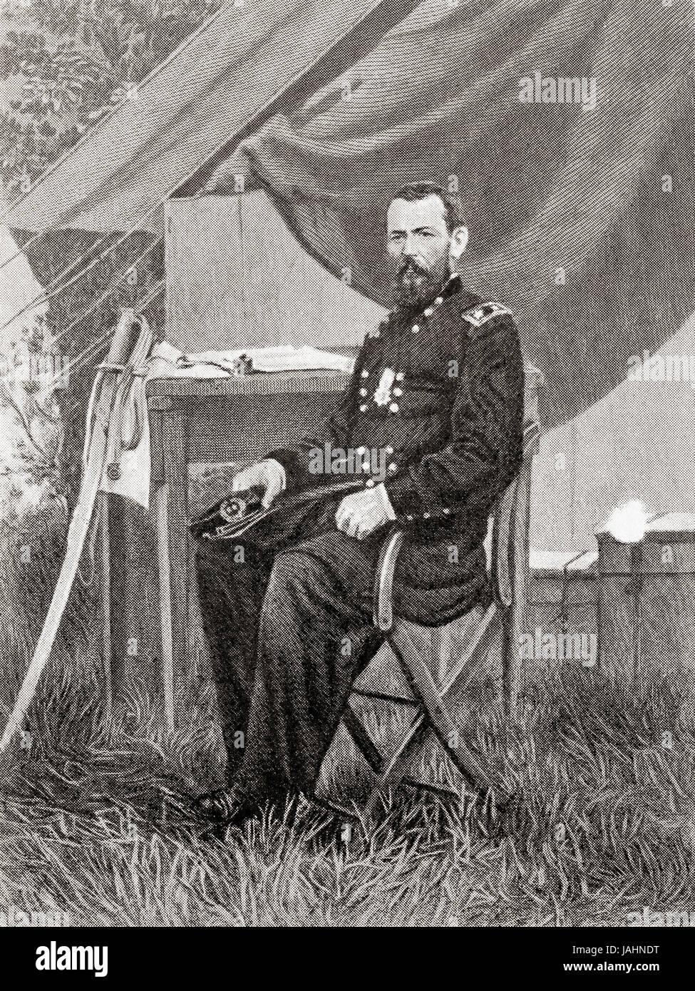 Art 1862 Dated Antique Print Ambrose Burnside Union Army General American Civil War Selected Material