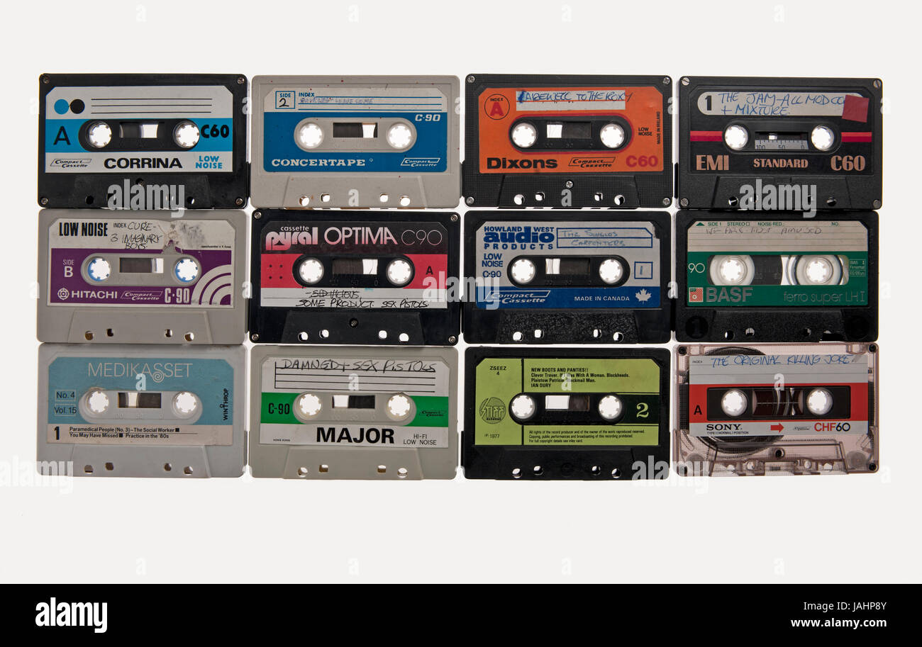 Audio cassete tapes - Stock Image