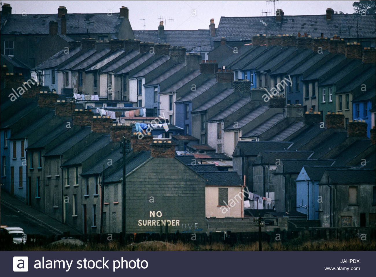 'No Surrender,' was the rallying cry of Northern Ireland Catholic residents in Londonderry after 13 unarmed - Stock Image