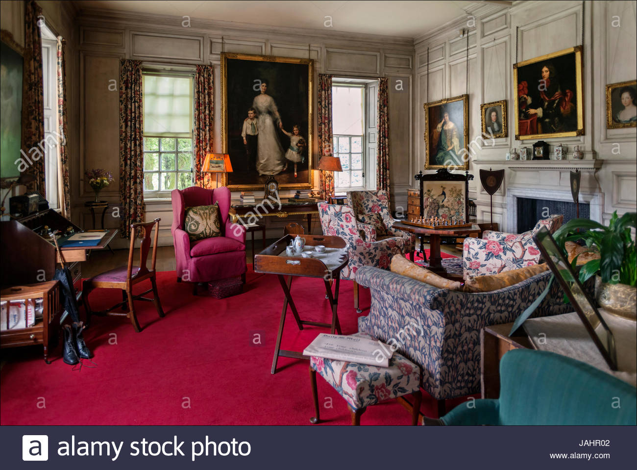 Dunham Massey, an early 18th Century stately home, now part of the National Trust. - Stock Image
