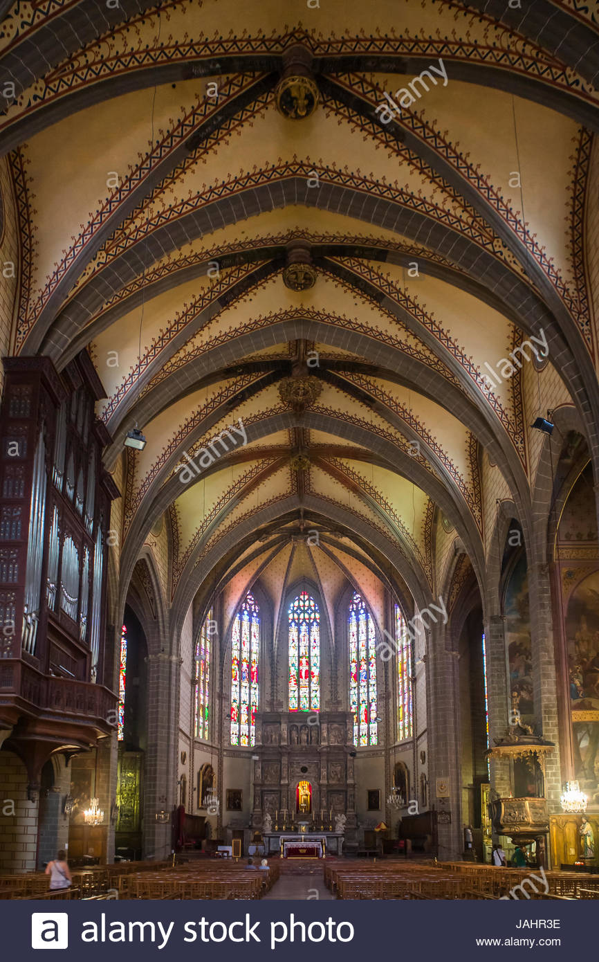 Inside the Cathedral of Saint John the Baptist. Started in 1324, and completed in the 15th century. - Stock Image
