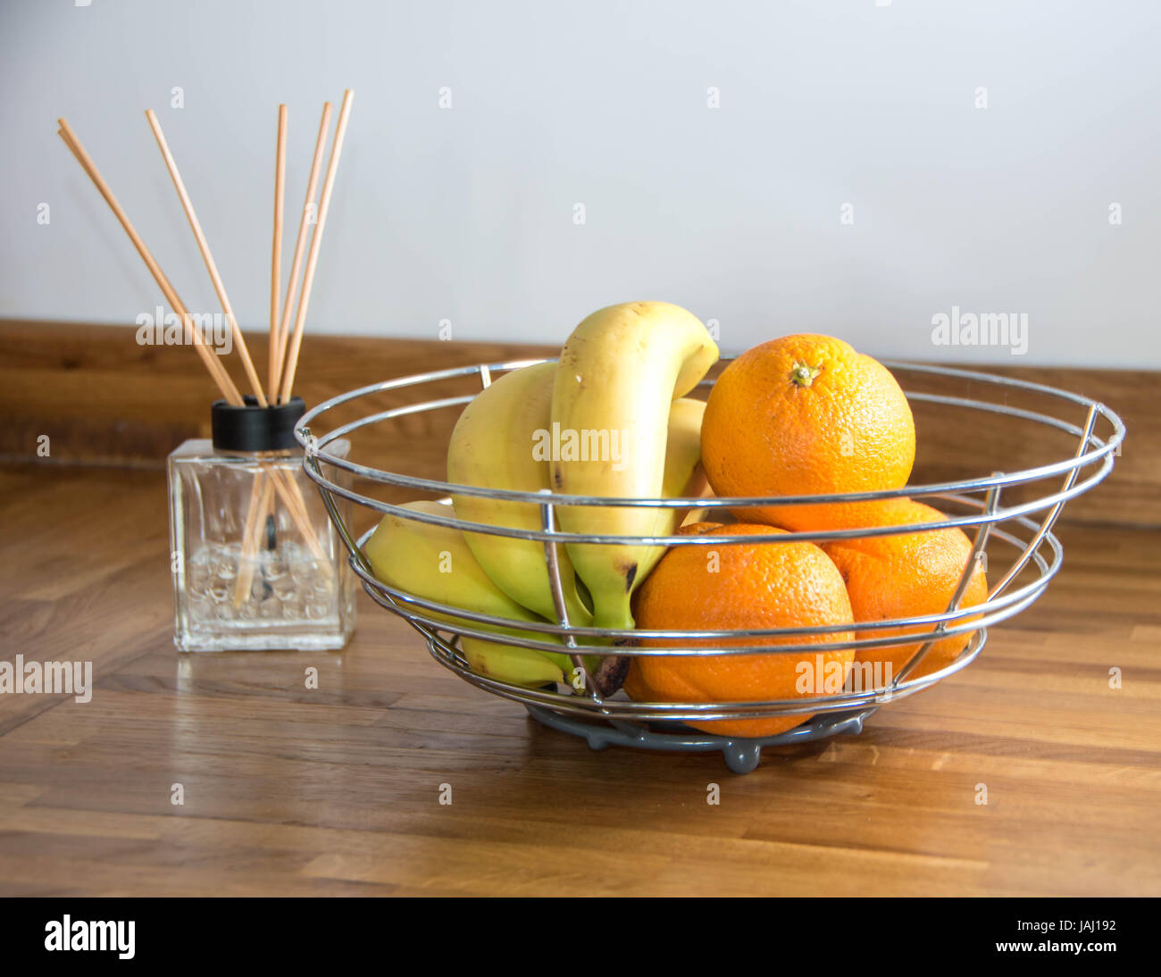 Oranges and bananas - Stock Image