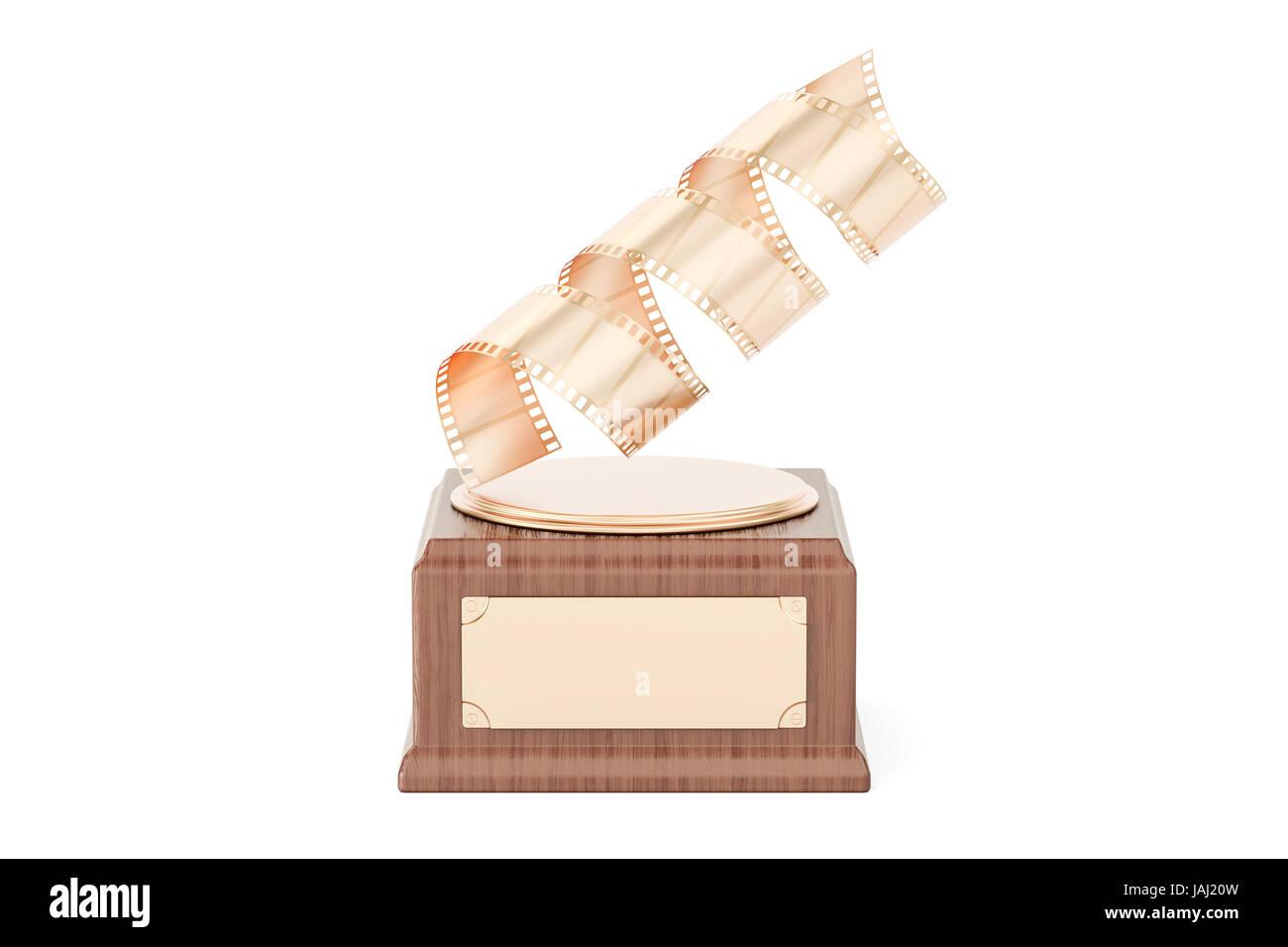 Golden Photo Award concept. 3D rendering - Stock Image