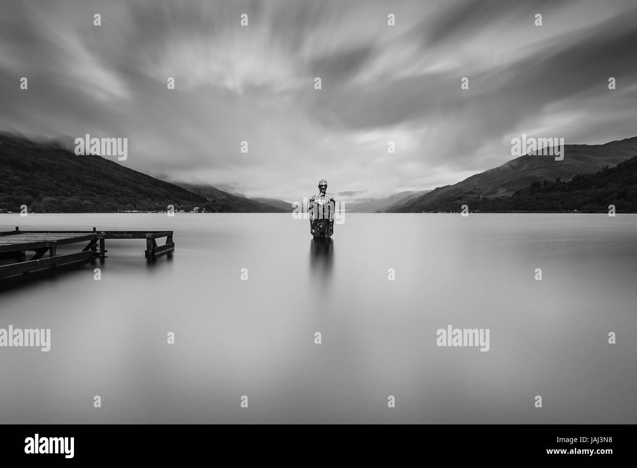 Mirror Man Loch Earn - Stock Image