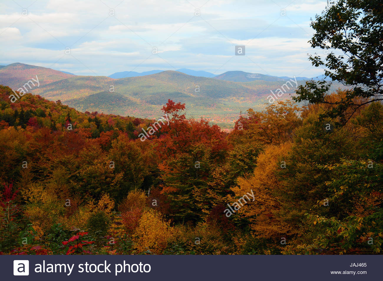 Fall foliage in the White Mountains of New Hampshire. - Stock Image