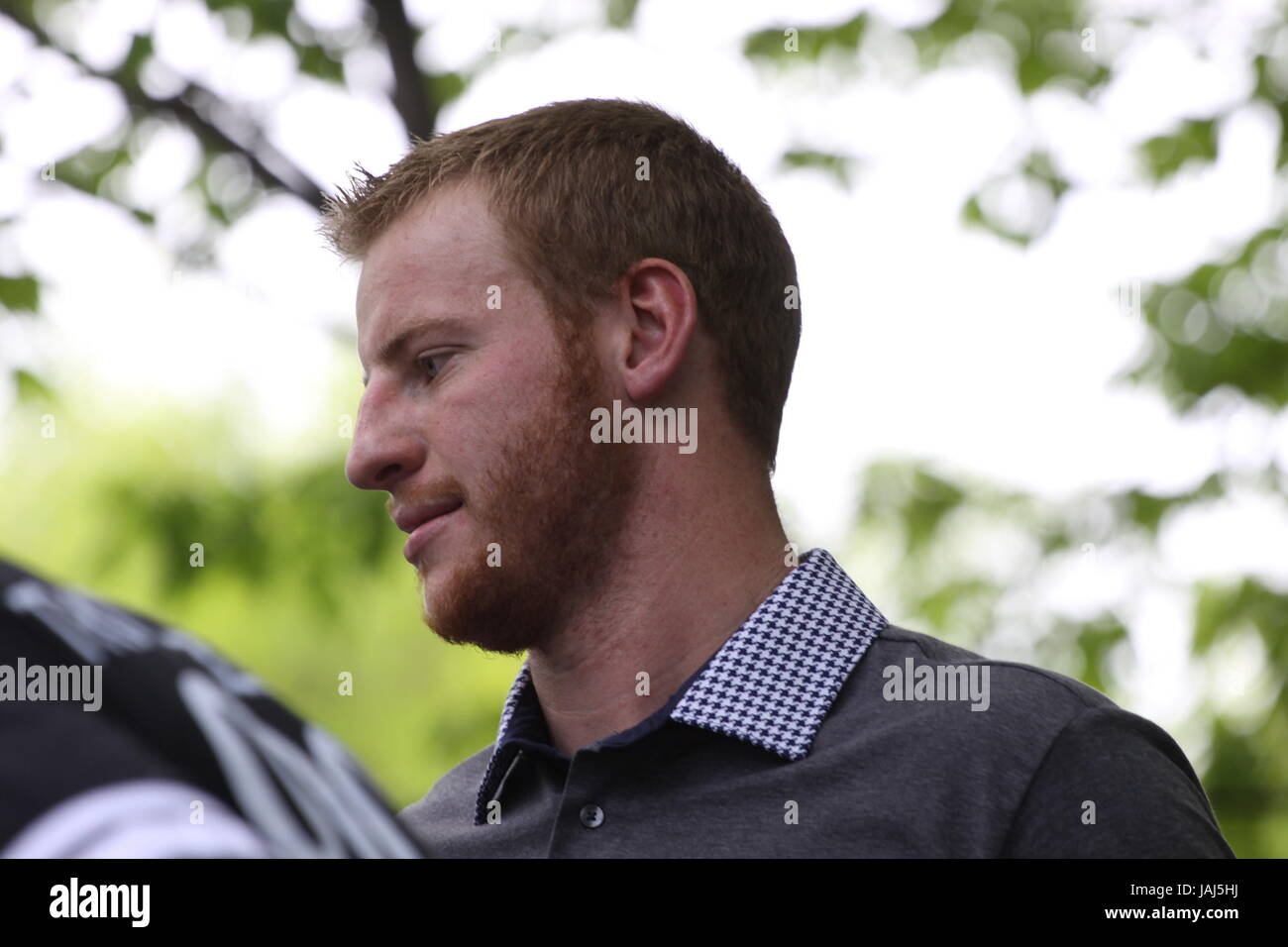 Nfl Draft Day 1 At The Ben Franklin Parkway Featuring Carson Wentz