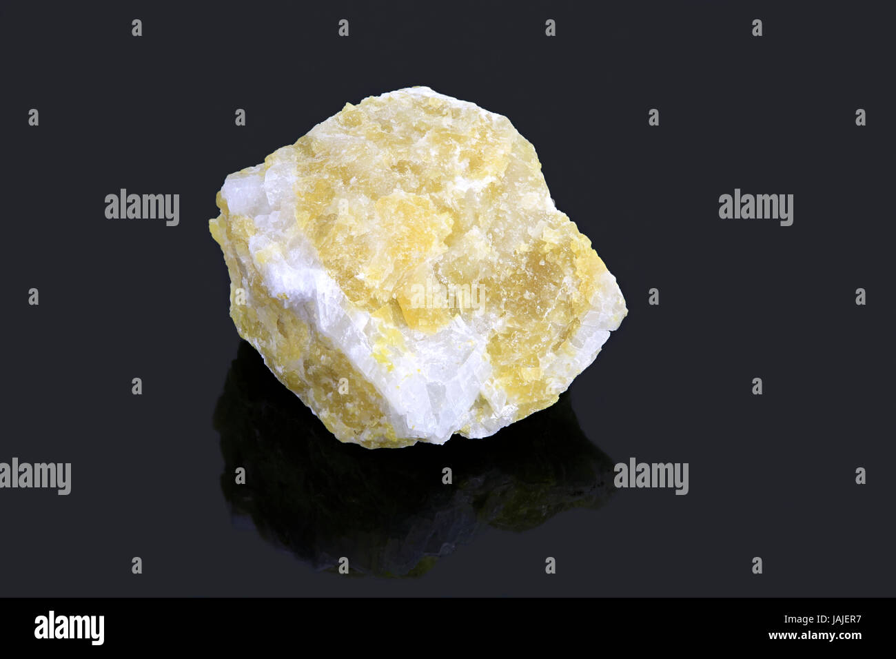 Cancrinite mineral sample, Canada - Stock Image