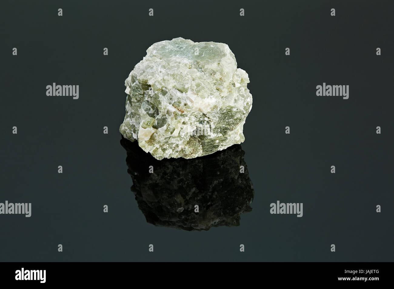 Diopside mineral specimen - Stock Image