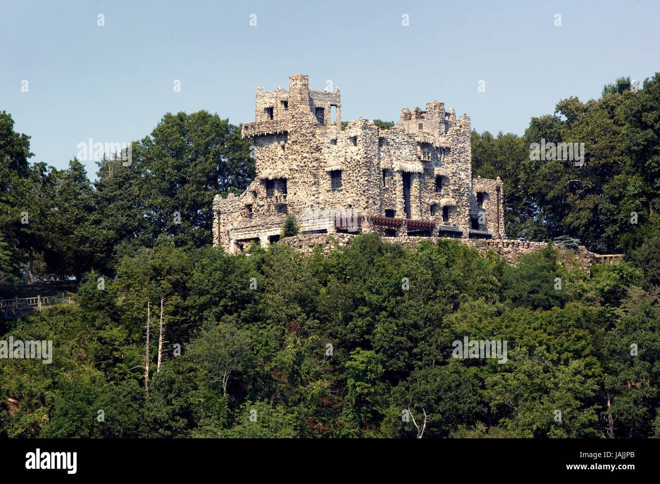 Gillette Castle, East Haddam and Lyme, CT  Gillette Castle State Park is straddling the towns of East Haddam and - Stock Image