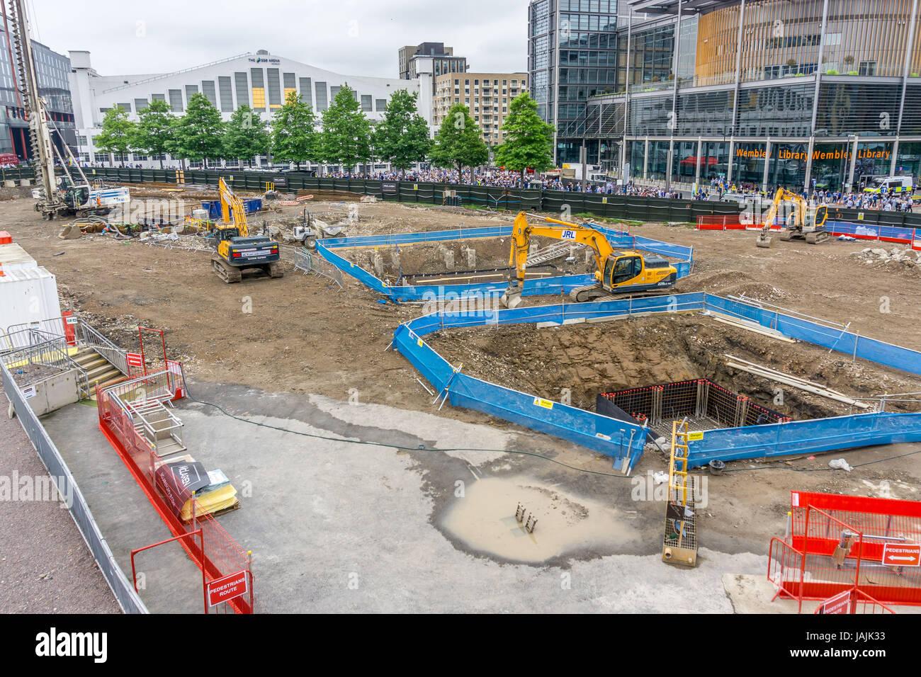 Contruction of Wembley Park, Wembley, London - Stock Image