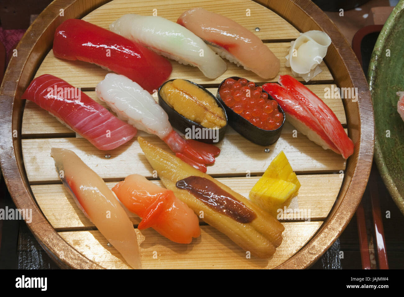 Japan,Tokyo,restaurant,food,sushi,simulation, - Stock Image