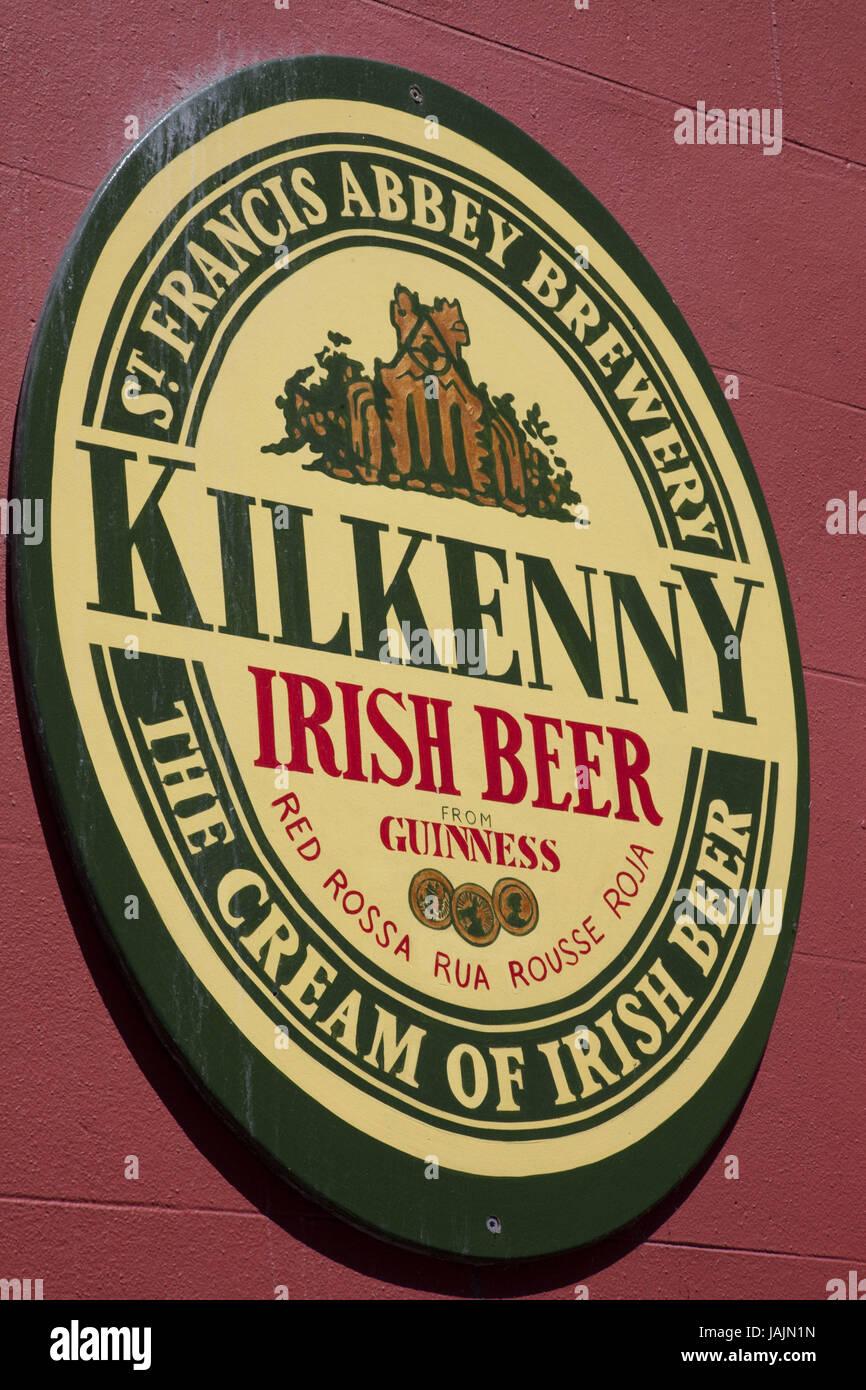 Ireland,county Kilkenny,Kilkenny,sign,beer sort, - Stock Image