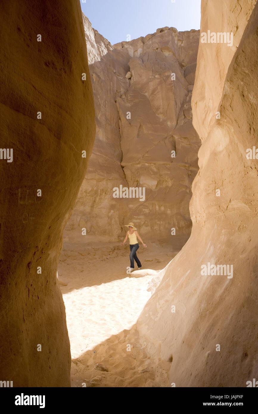 Egypt Sinai,desert Sinai,White canyon,area of Nuweiba,tourist, - Stock Image