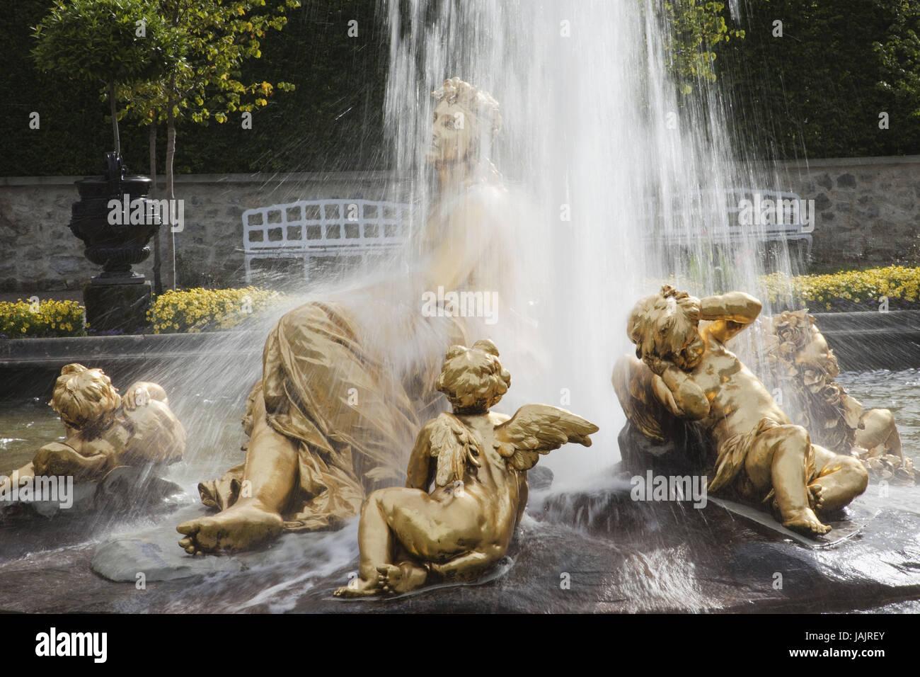 Germany,Bavaria,romantic street,lock gentle court,flora well, - Stock Image