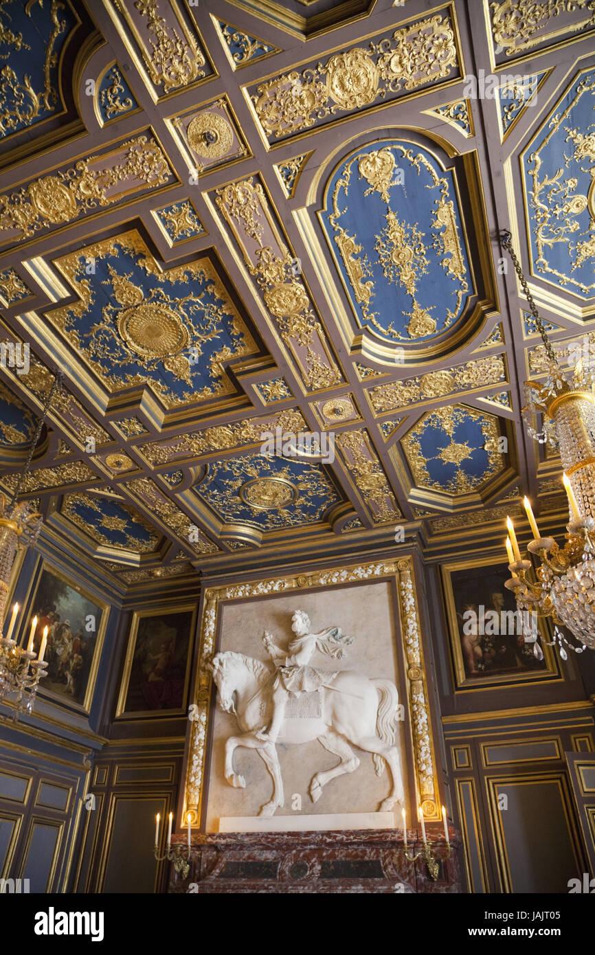 France,Ile-de-France,Fontainebleau,Chateau de Fontainebleau,room of Ludwig II, - Stock Image