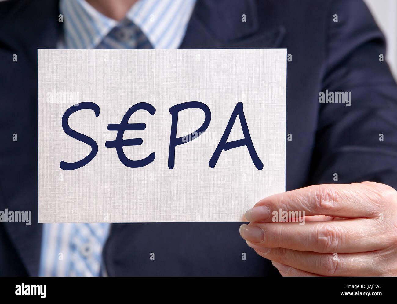 SEPA - Online Banking - Stock Image