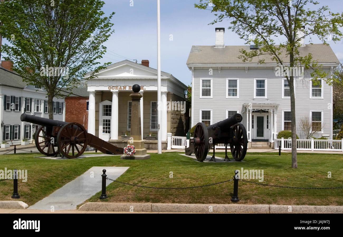 Stonington, Connectucut, USA - A war of 1812 memorial. - Stock Image