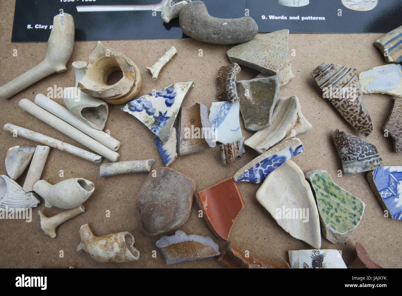England,London,Southwark,finds of the Thames shore, Stock Photo