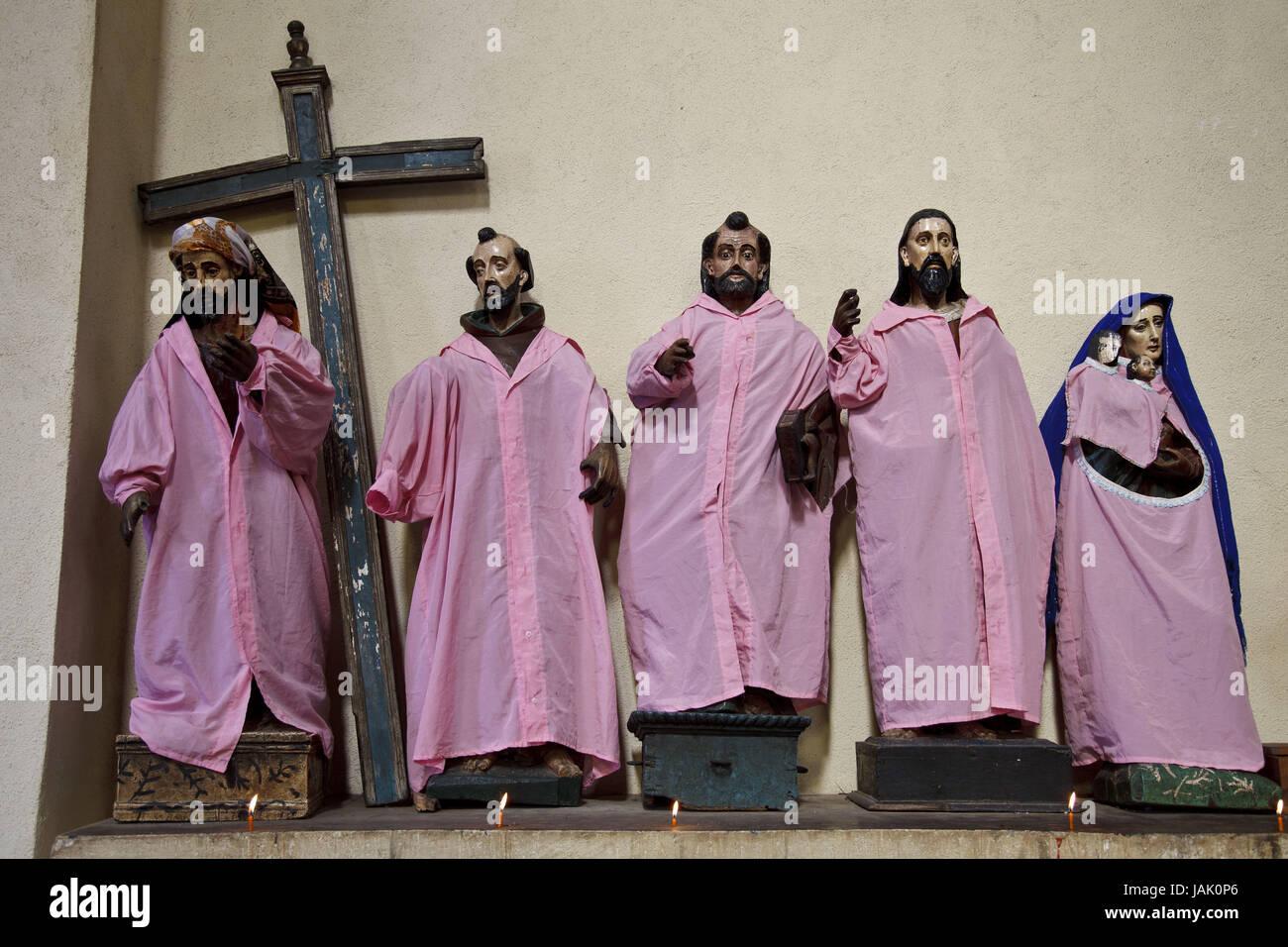 Guatemala,Atitlan lake,church,Santiago Atitlan,saints,no property release, - Stock Image