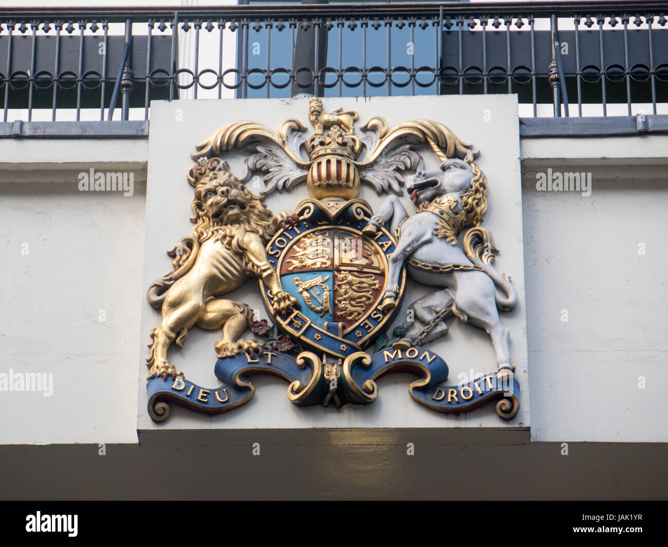 Coat of arms Theatre Royal, Drury Lane - Stock Image