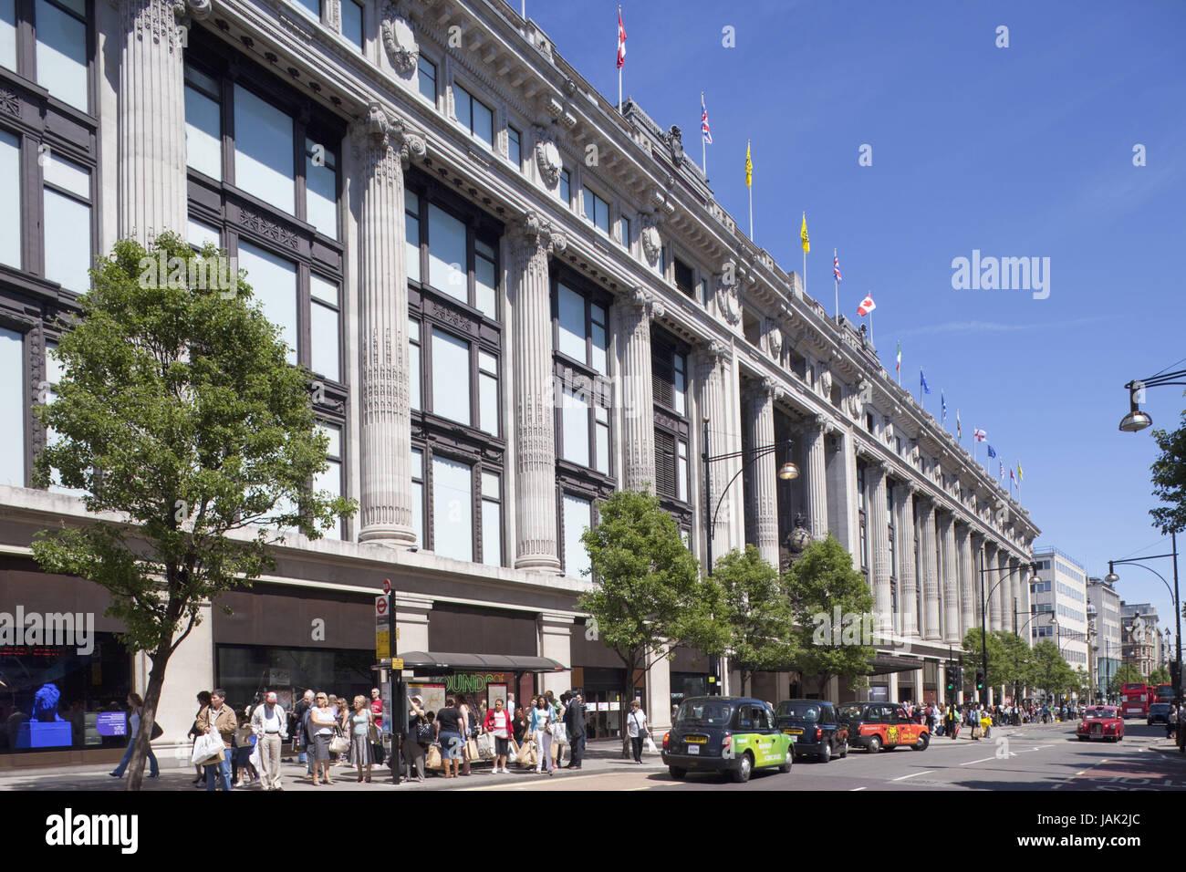 England,London,Oxford Street,Selfridges Department net curtain - Stock Image