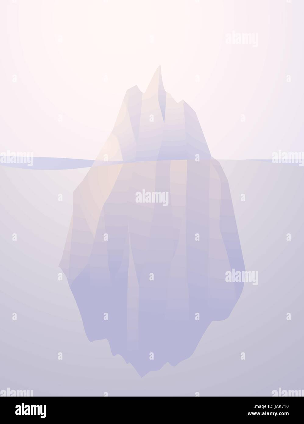 Iceberg nature submerged vector illustration - Stock Vector
