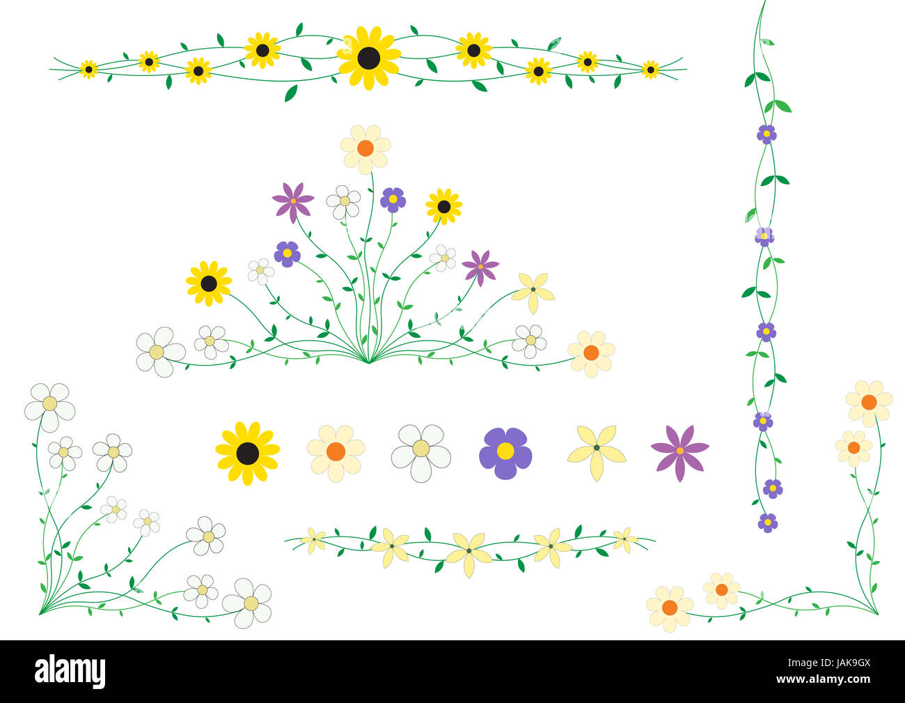 Beautiful flowers on small stalks scenery for cards stock photo beautiful flowers on small stalks scenery for cards izmirmasajfo