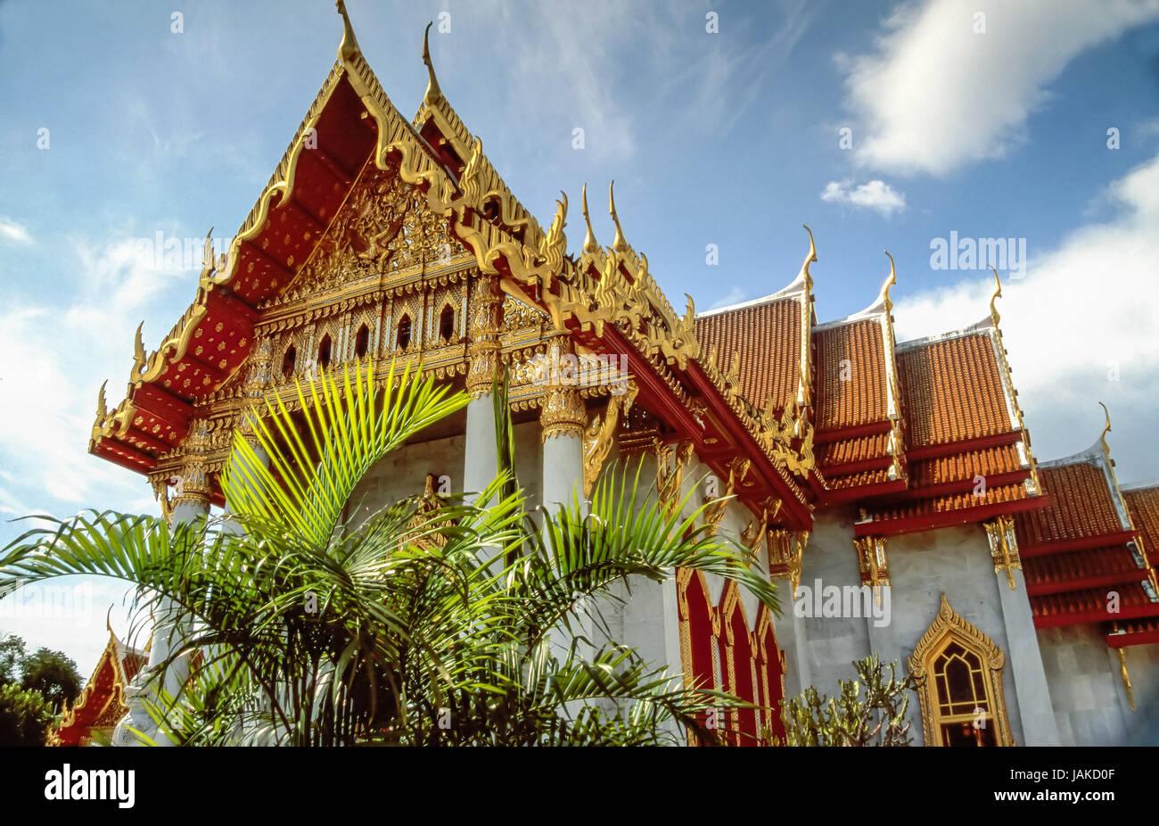 Buddhistischer Tempel Wat Benchamabophit in Bangkok, Thailand Stock Photo