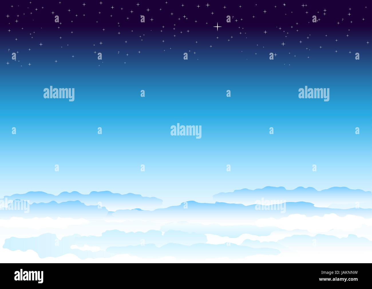 Stars sky. Heavenly atmosphere smoothly passing in space. - Stock Image
