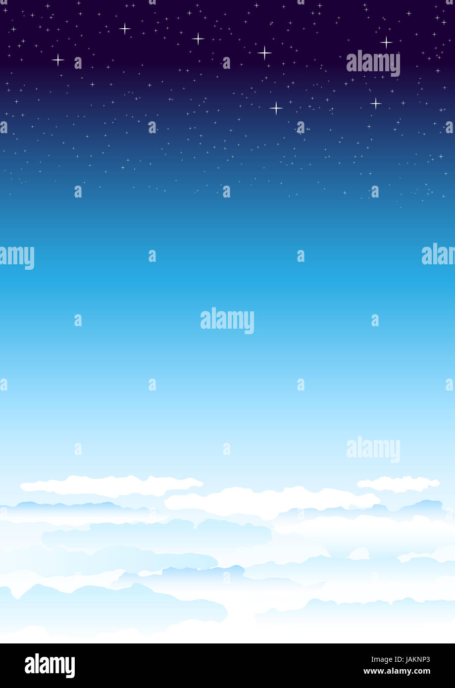 The big dipper. Heavenly atmosphere smoothly passing in space. - Stock Image