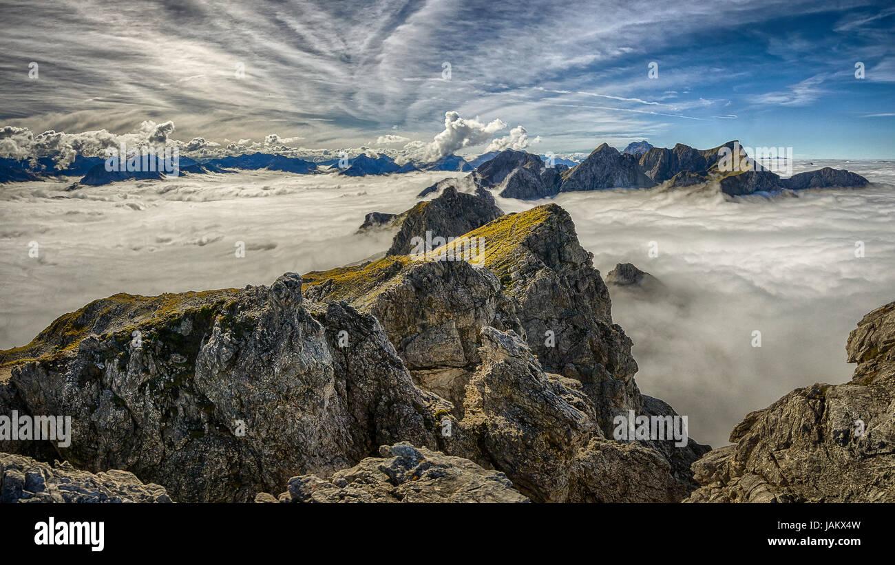 Klettersteig Kleinwalsertal : Kleinwalsertal mindelheimer klettersteig stock photo