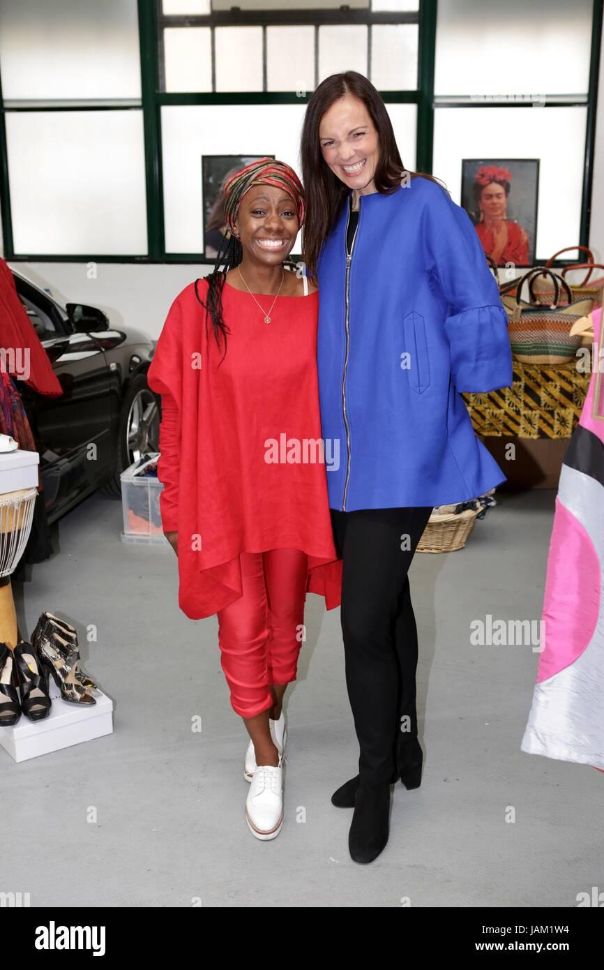#SheinspiresMe Fashion Car Boot in support of Women for Women International  Featuring: Samata Pattinson, Brita - Stock Image