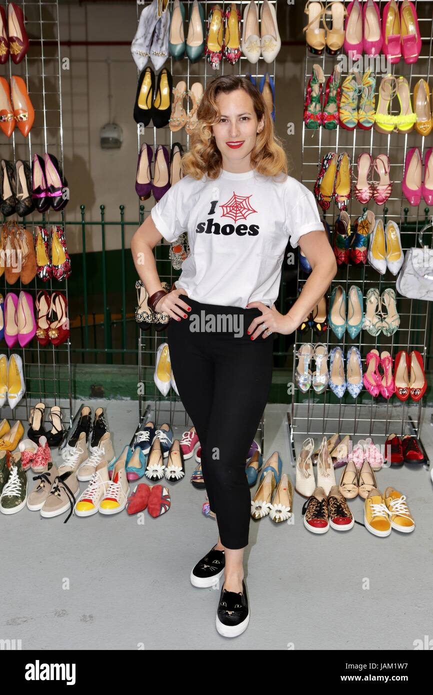#SheinspiresMe Fashion Car Boot in support of Women for Women International  Featuring: Charlotte Olympia Where: - Stock Image