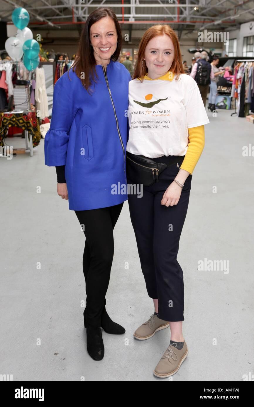 #SheinspiresMe Fashion Car Boot in support of Women for Women International  Featuring: Brita Fernandez Schmidt - Stock Image