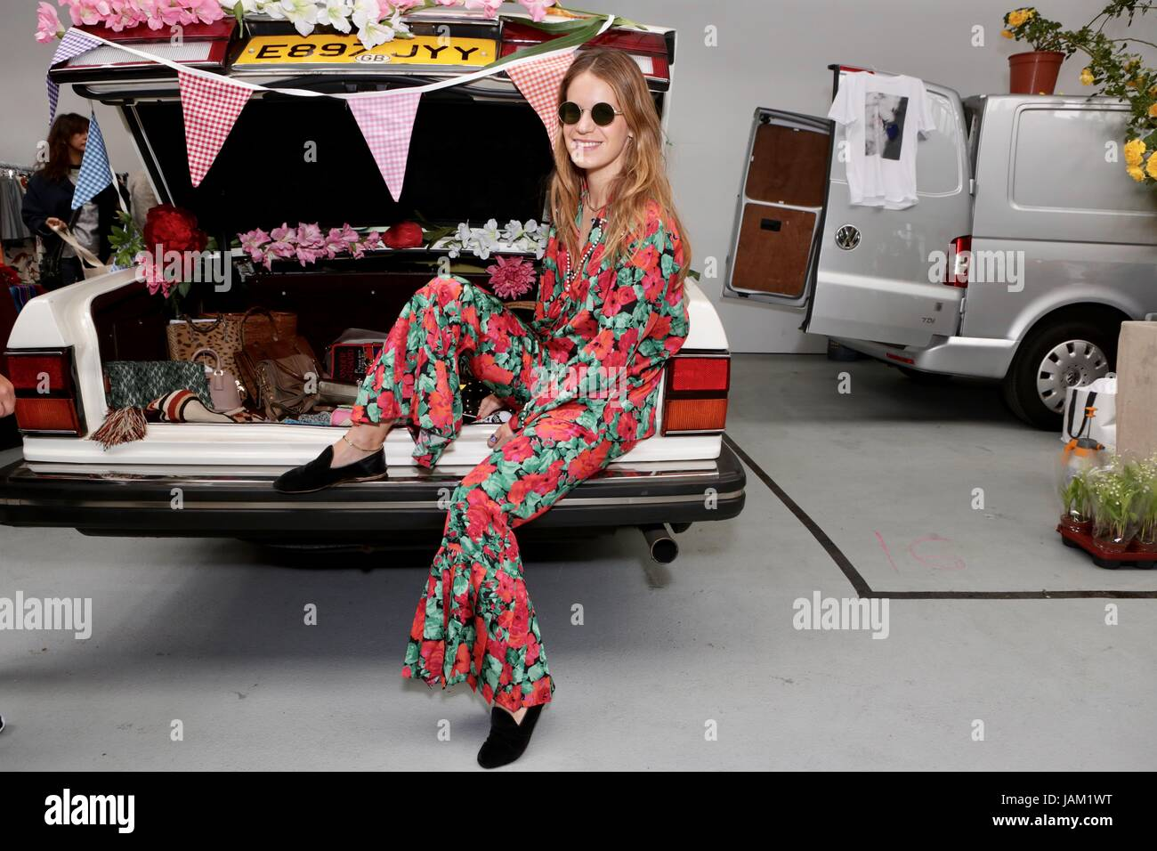 #SheinspiresMe Fashion Car Boot in support of Women for Women International  Featuring: Eugenie Niarchos Where: - Stock Image