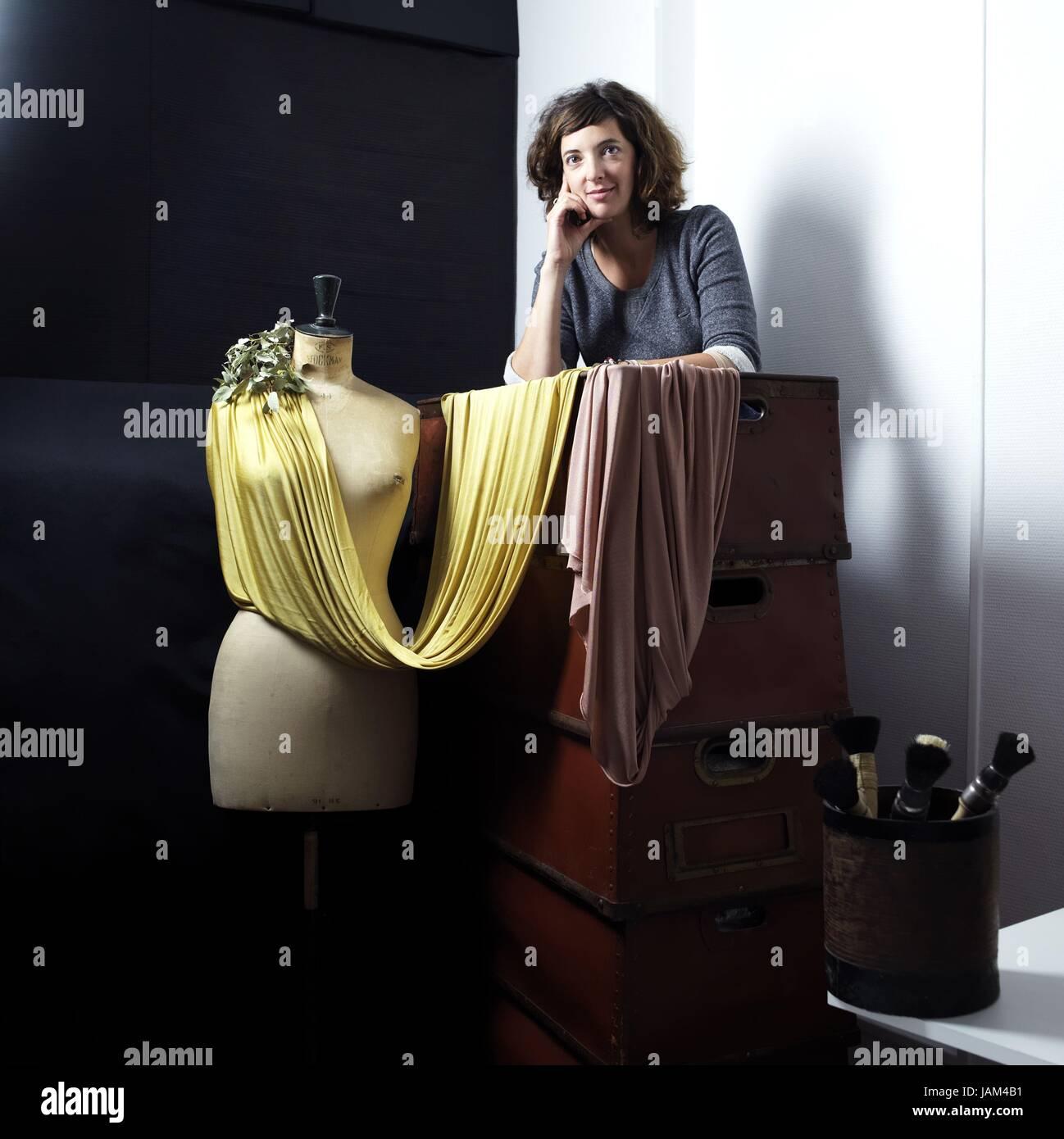 Aurélia Wolff, French fashion designer for the brand Rosa Tapioca.  September 14, 2012 Photo Damien Grenon - Stock Image