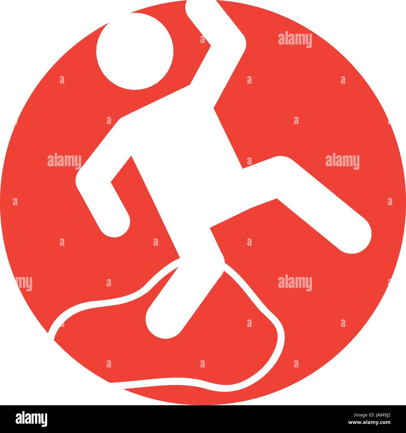 Accident on slippery floor - Stock Image