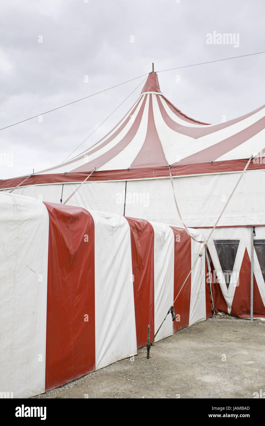 Construction circus at festivals in Spain, with tent and