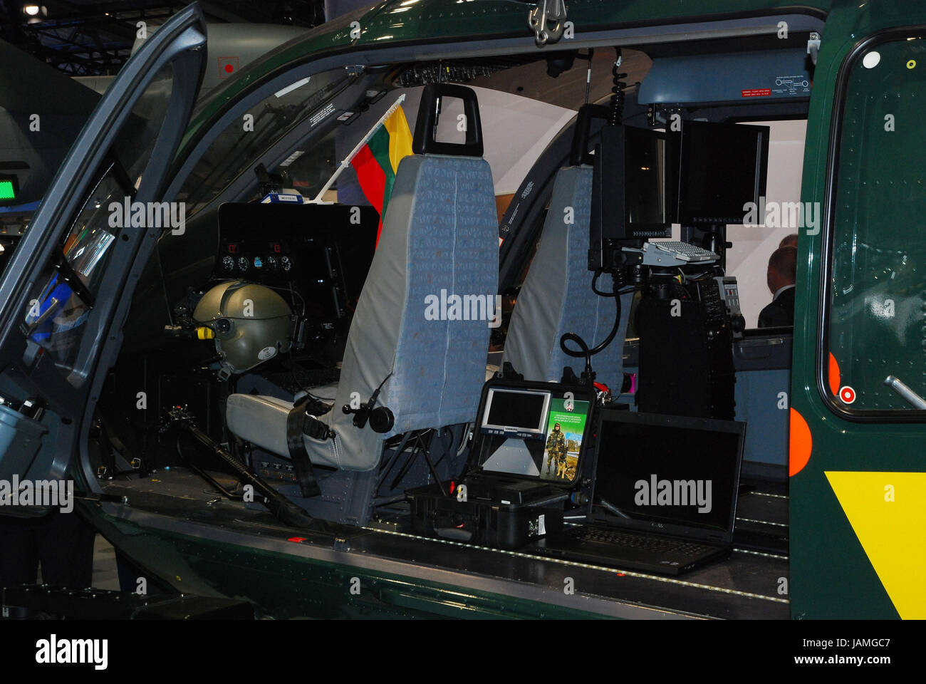 The military,helicopter,inside,technical equipment, - Stock Image