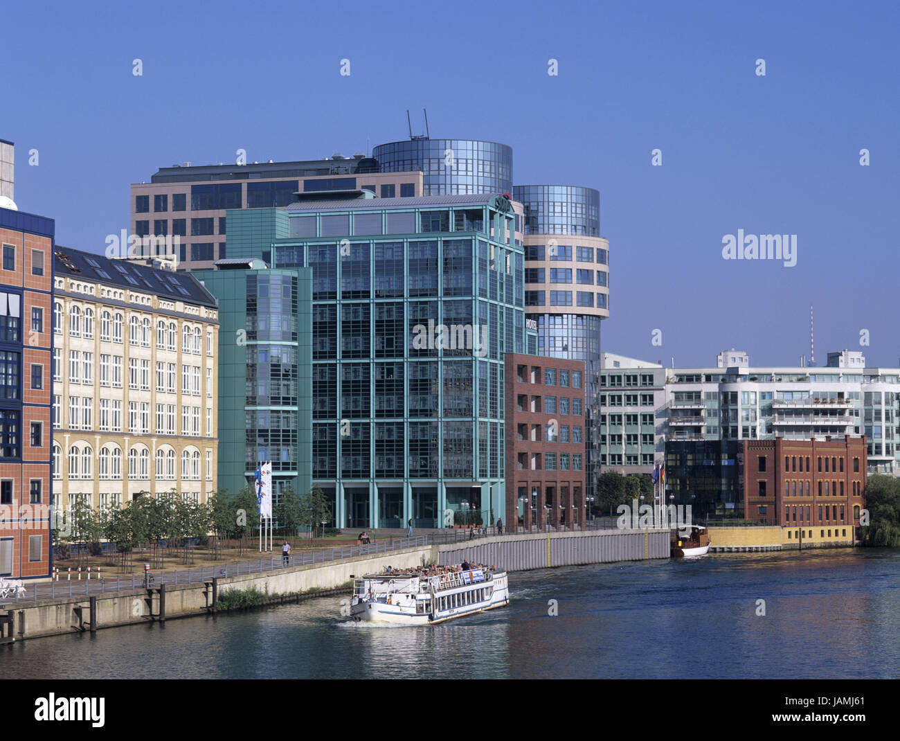 Germany,Berlin middle,Federal Ministry of the core,Focus tele-port,the Spree, - Stock Image