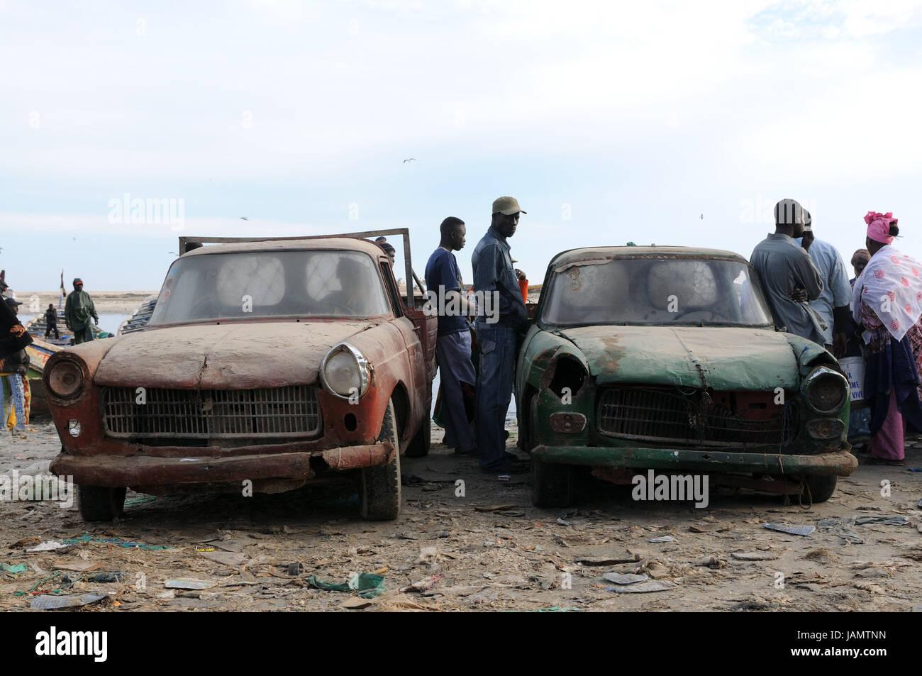 Mauritania,Nouadhibou,harbour,cars,old,men,women,no model Stock ...