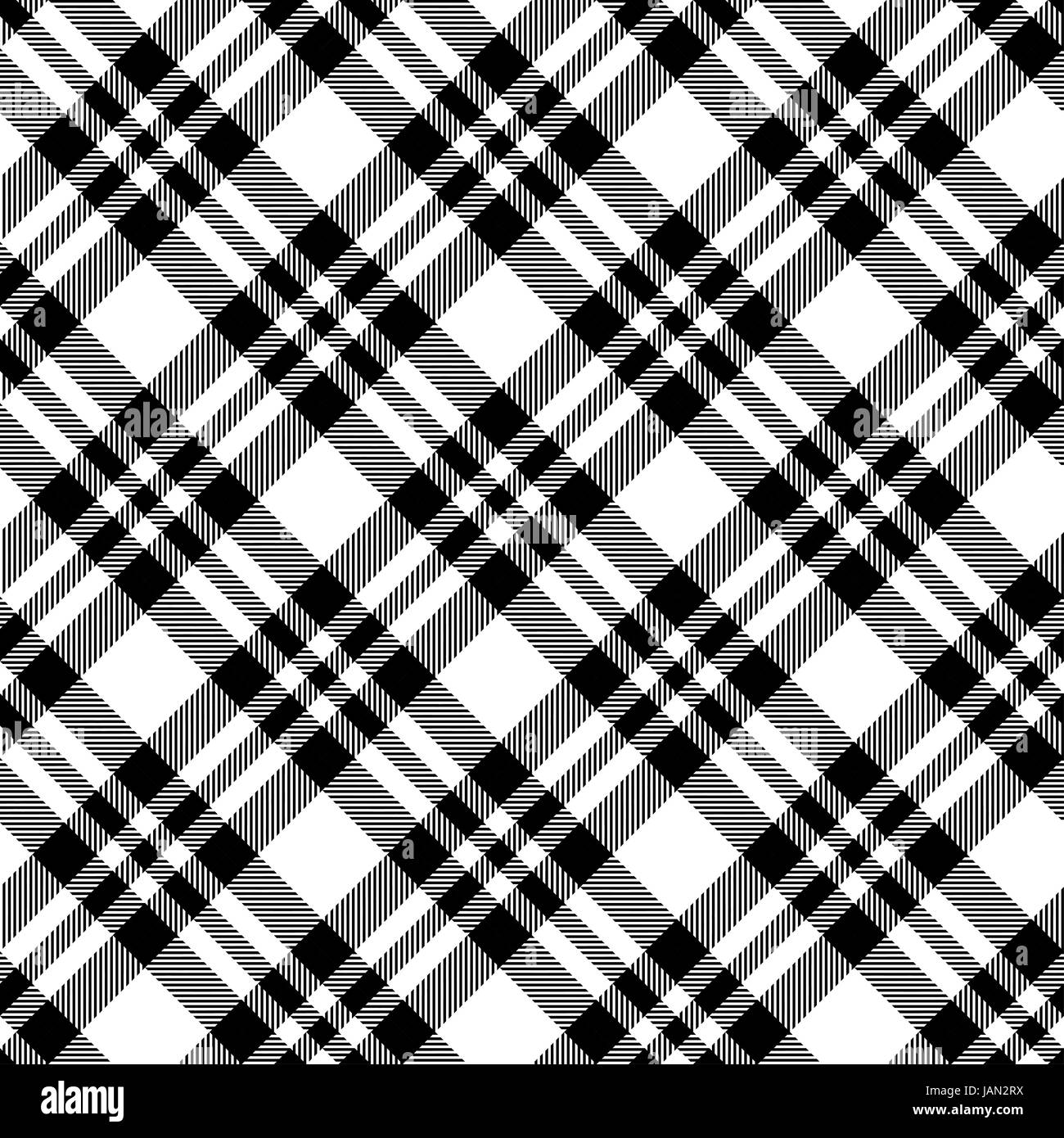 checked tablecloths black pattern - endless - Stock Image
