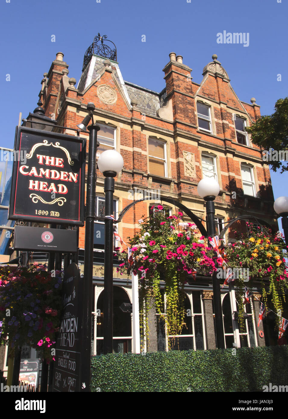 The Camden Head Pub Islington London Stock Photo