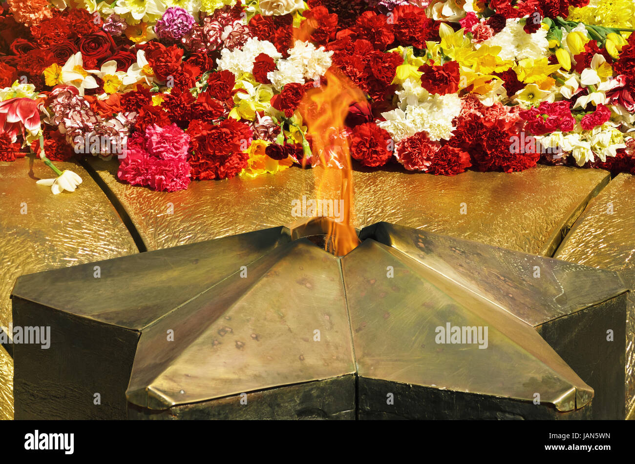 The Eternal Flame Memorializing Losses During The Fight Against Fascism - Stock Image