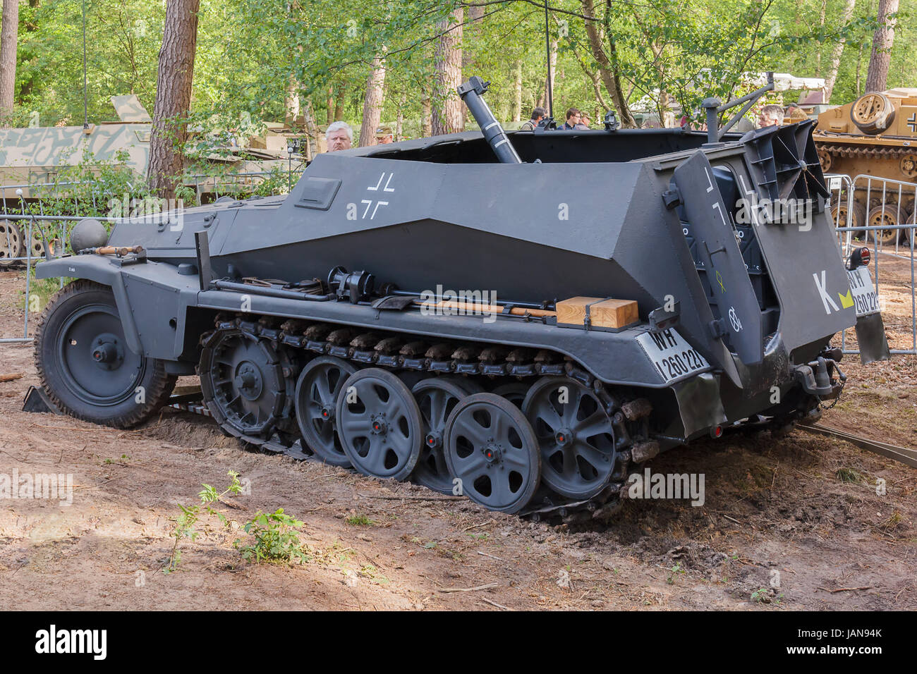 Sd.Kfz. 251/2 with mortar at Militracks event - Stock Image