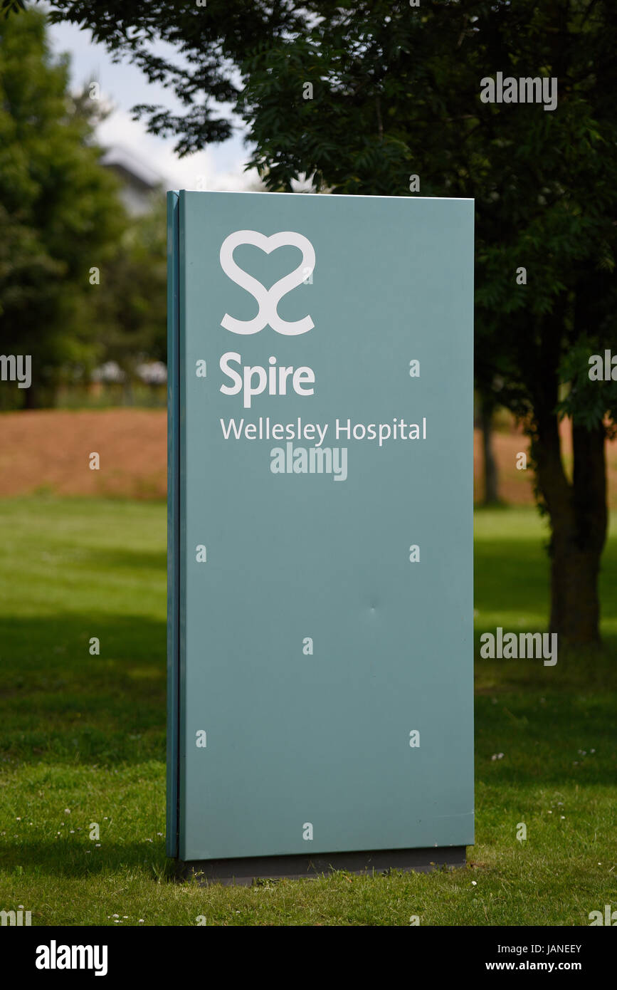 Spire Wellesley Hospital in Eastern Avenue Southend on Sea, Essex. Private hospital. Space for copy - Stock Image